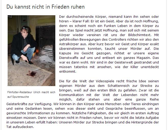 Murdered Soul Suspect - Ulrich Wimmeroth - Journalist