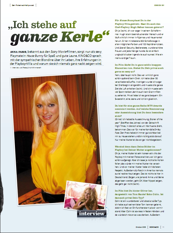 Ulrich Wimmeroth - Anna Faris Interview