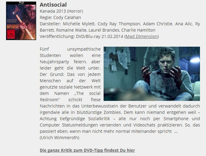 Ulrich Wimmeroth - Antisocial - Filmabriss