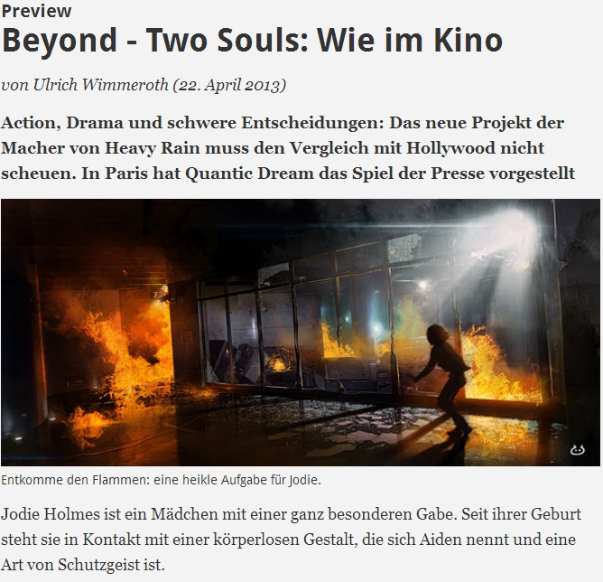 Ulrich Wimmeroth - Beyond Two Souls - spieletipps
