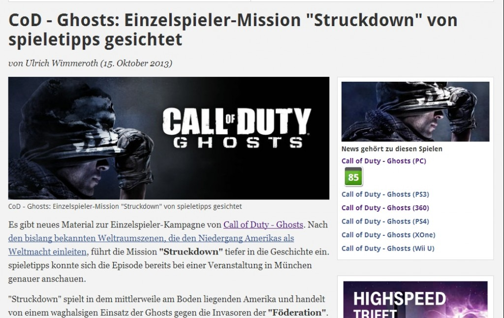 Ulrich Wimmeroth - Call of Duty Ghosts - Struckdown