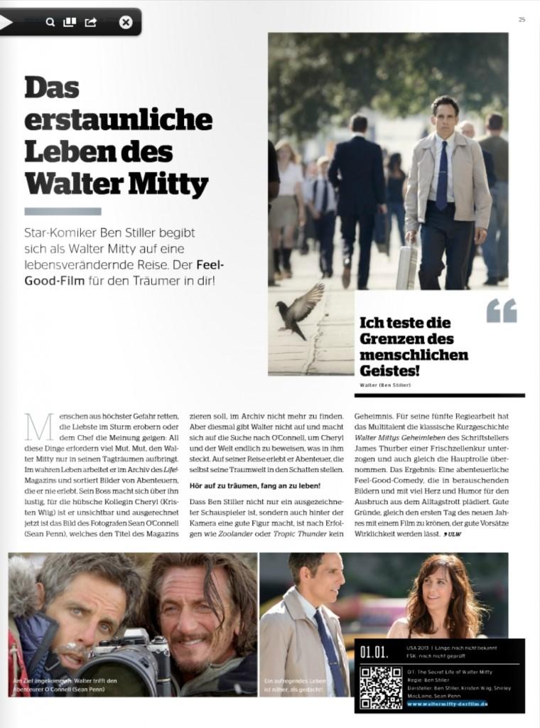 Ulrich Wimmeroth - Das erstaunliche Leben des Walter Mitty