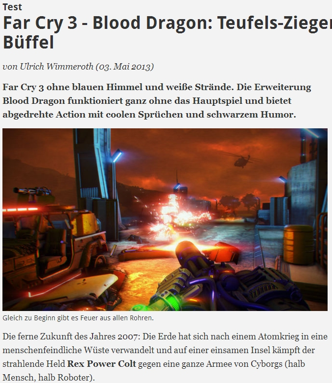Ulrich Wimmeroth - Far Cry 3 - Blood Dragon - spieletipps