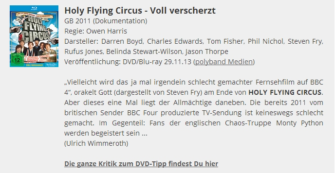 Ulrich Wimmeroth - Holy Flying Circus - filmabriss