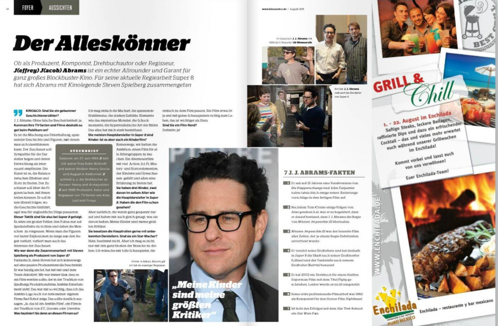 Ulrich Wimmeroth - Interview JJ Abrams Kinoundco