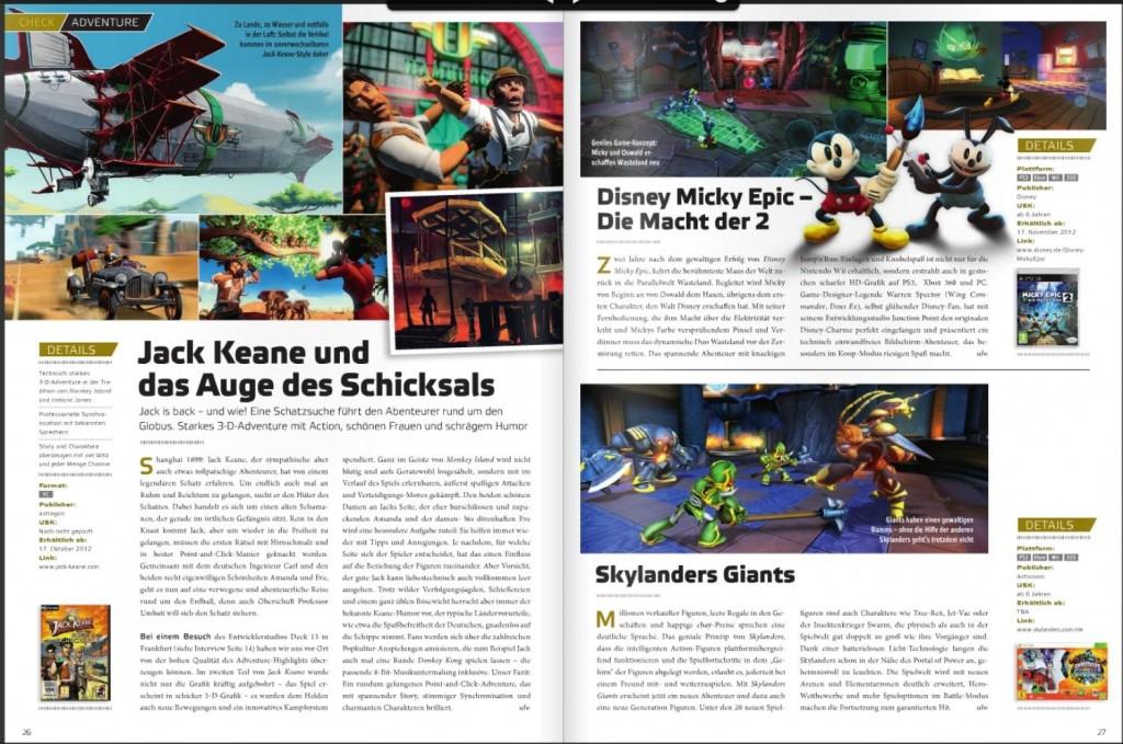 Ulrich Wimmeroth - Jack Keane und das Auge des Schicksals - Skylanders Giants - Disney Micky Epic Die Macht der Zwei