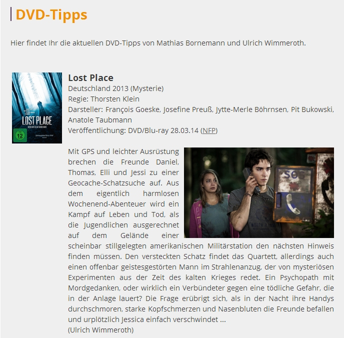 Ulrich Wimmeroth - Lost Place - DVD Kritik