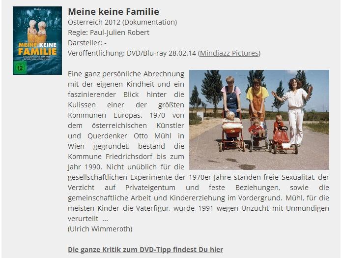 Ulrich Wimmeroth - Meine keine Familie - Filmabriss
