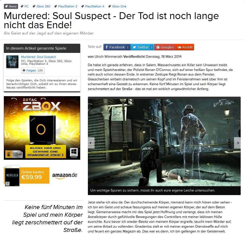 Ulrich Wimmeroth - Murdered Soul Suspect - eurogamer.de