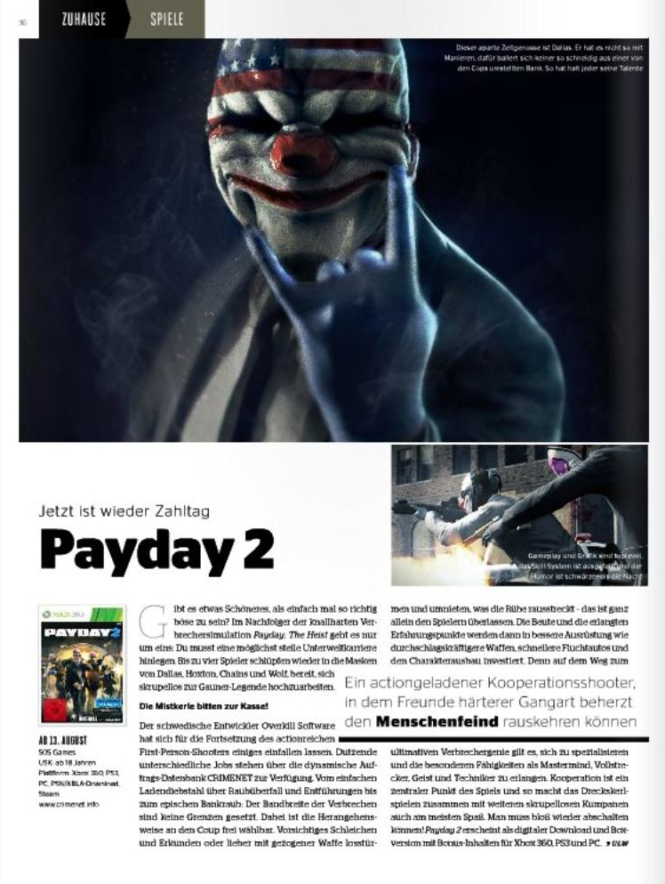 Ulrich Wimmeroth - Payday 2