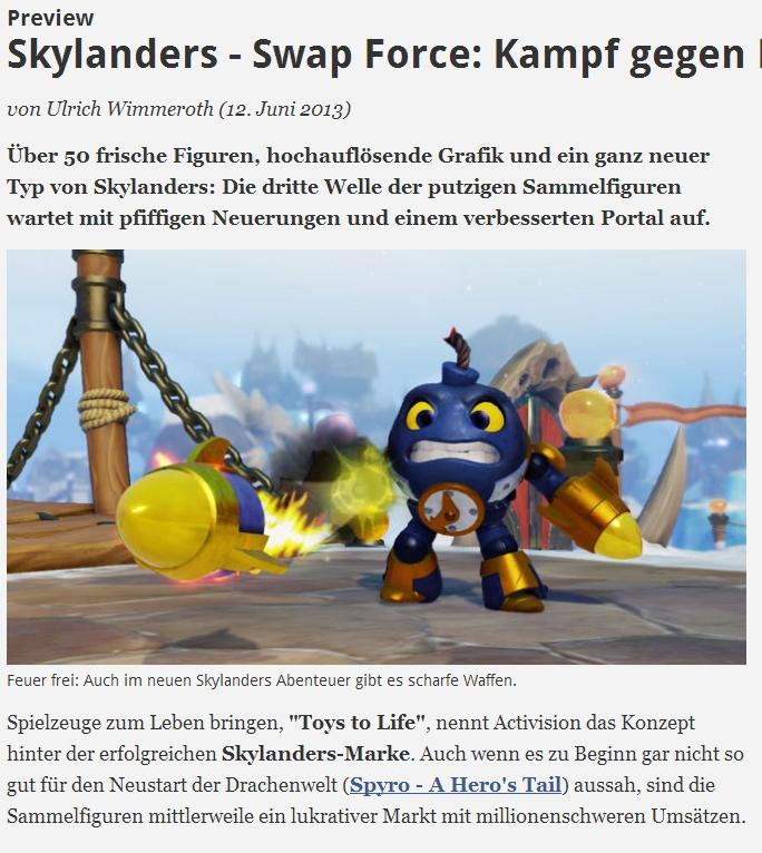 Ulrich Wimmeroth - Skylanders Swap Force Preview - spieletipps