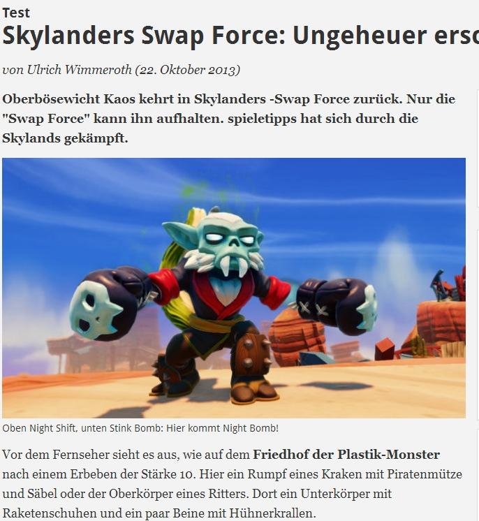 Ulrich Wimmeroth - Skylanders - Swap Force - spieletipps