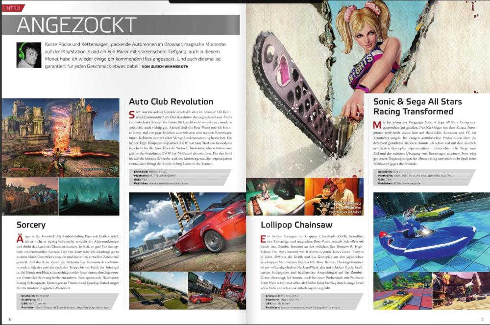 Ulrich Wimmeroth - Sorcery - Auto Club Revolution - Lollipop Chainsaw - Sonic and Sega All Stars Racing Transformed