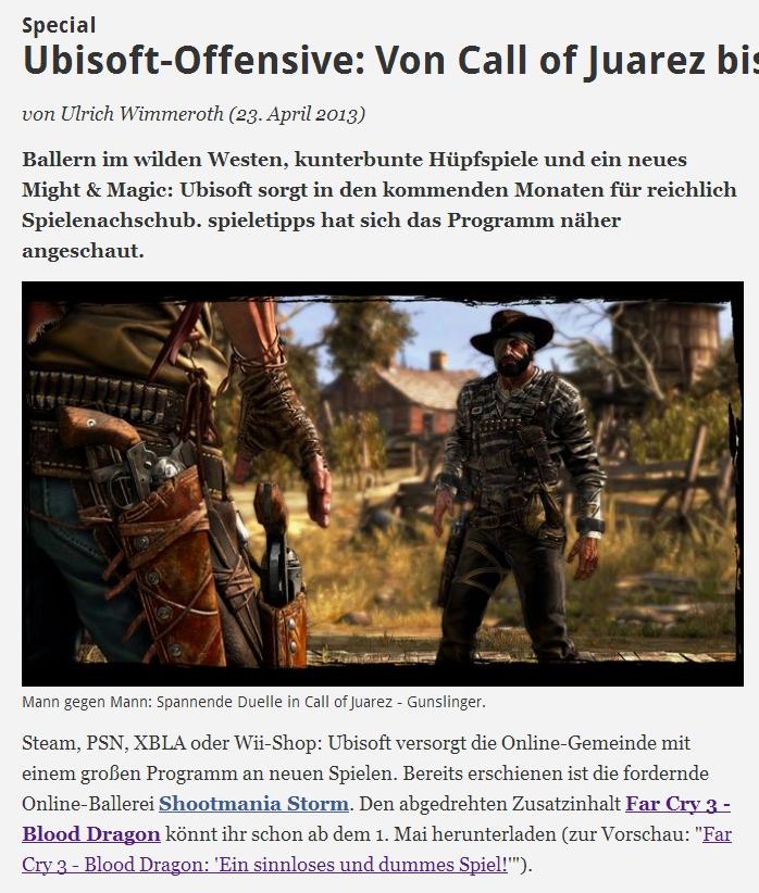 Ulrich Wimmeroth - Ubisoft Digital Days Hamburg - spieletipps