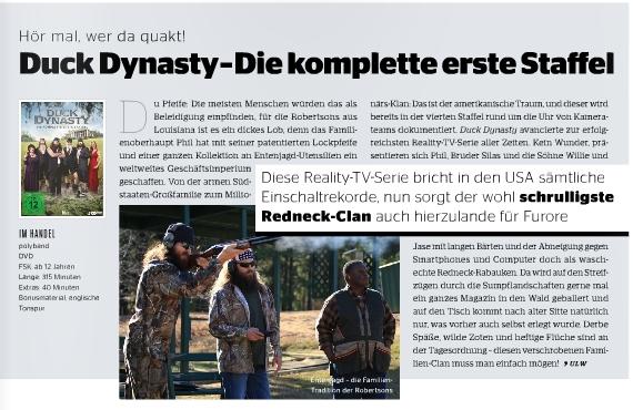 Ulrich Wimmeroth - Duck Dynasty Staffel 1 - Preview - Kino und Co