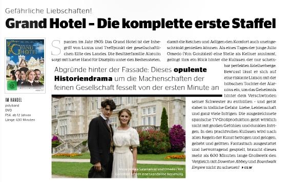 Ulrich Wimmeroth - Grand Hotel Staffel 1 - Preview - Kino und Co