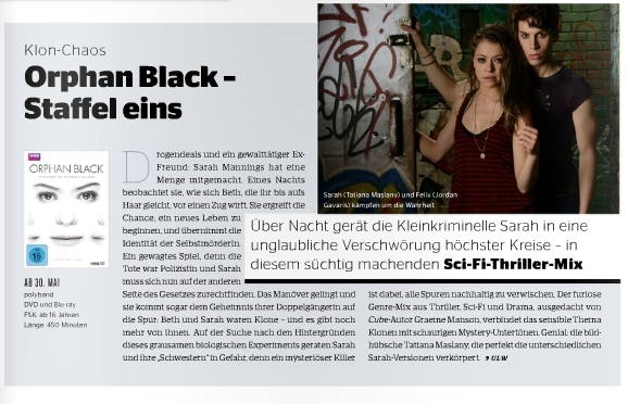 Ulrich Wimmeroth - Orphan Black Staffel 1 - Preview - Kino und Co