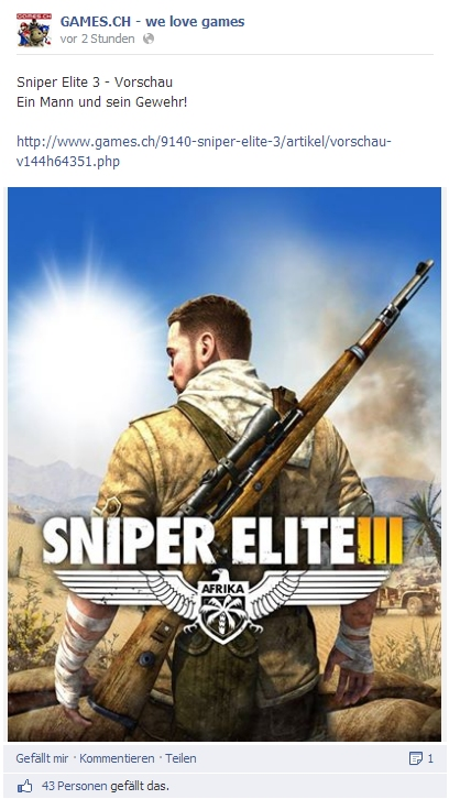 Ulrich Wimmeroth - Sniper Elite 3 - Preview - games.ch
