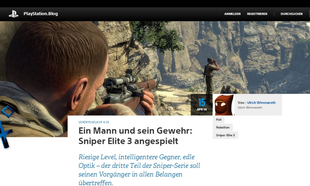 Ulrich Wimmeroth - Sniper Elite 3 - Preview - playstation Blog