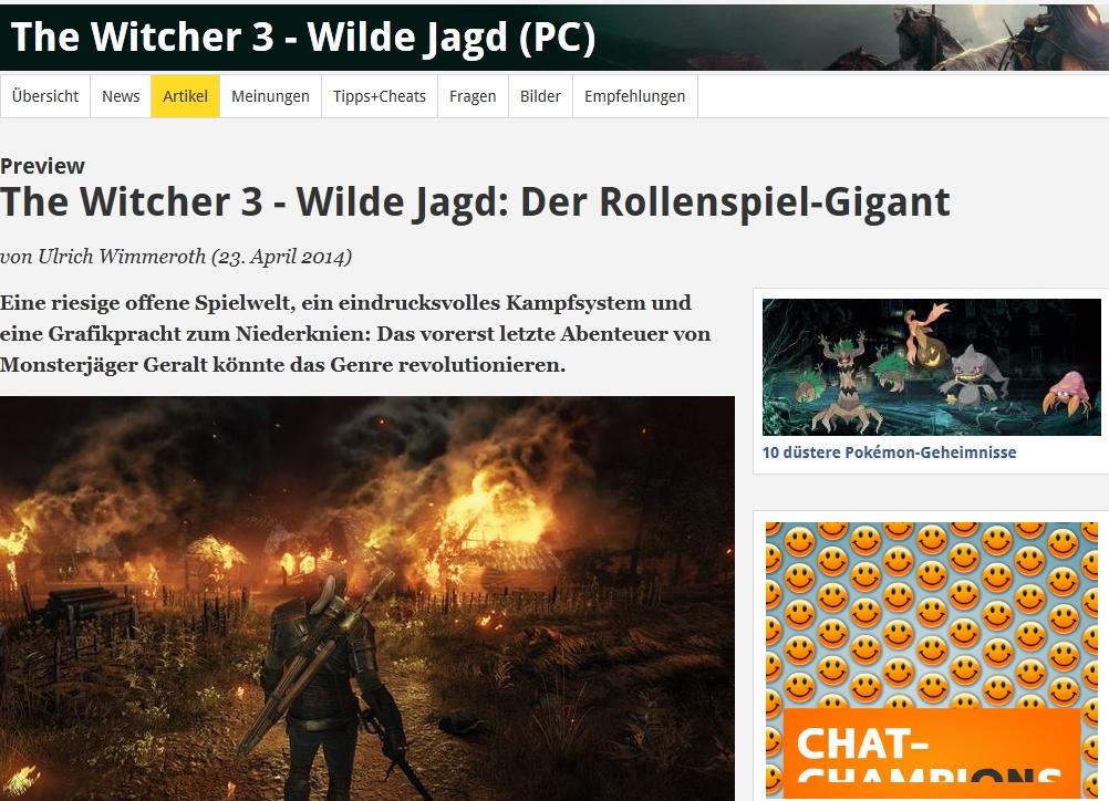 Ulrich Wimmeroth - The Witcher 3 Wild Hunt - Preview - spieletipps.de