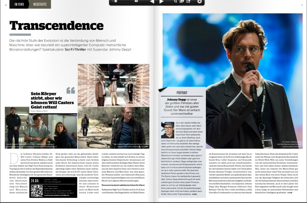 Ulrich Wimmeroth - Transcendence - Preview - Kino und Co