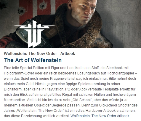 Ulrich Wimmeroth - The Art of Wolfenstein The New Order - Artbook