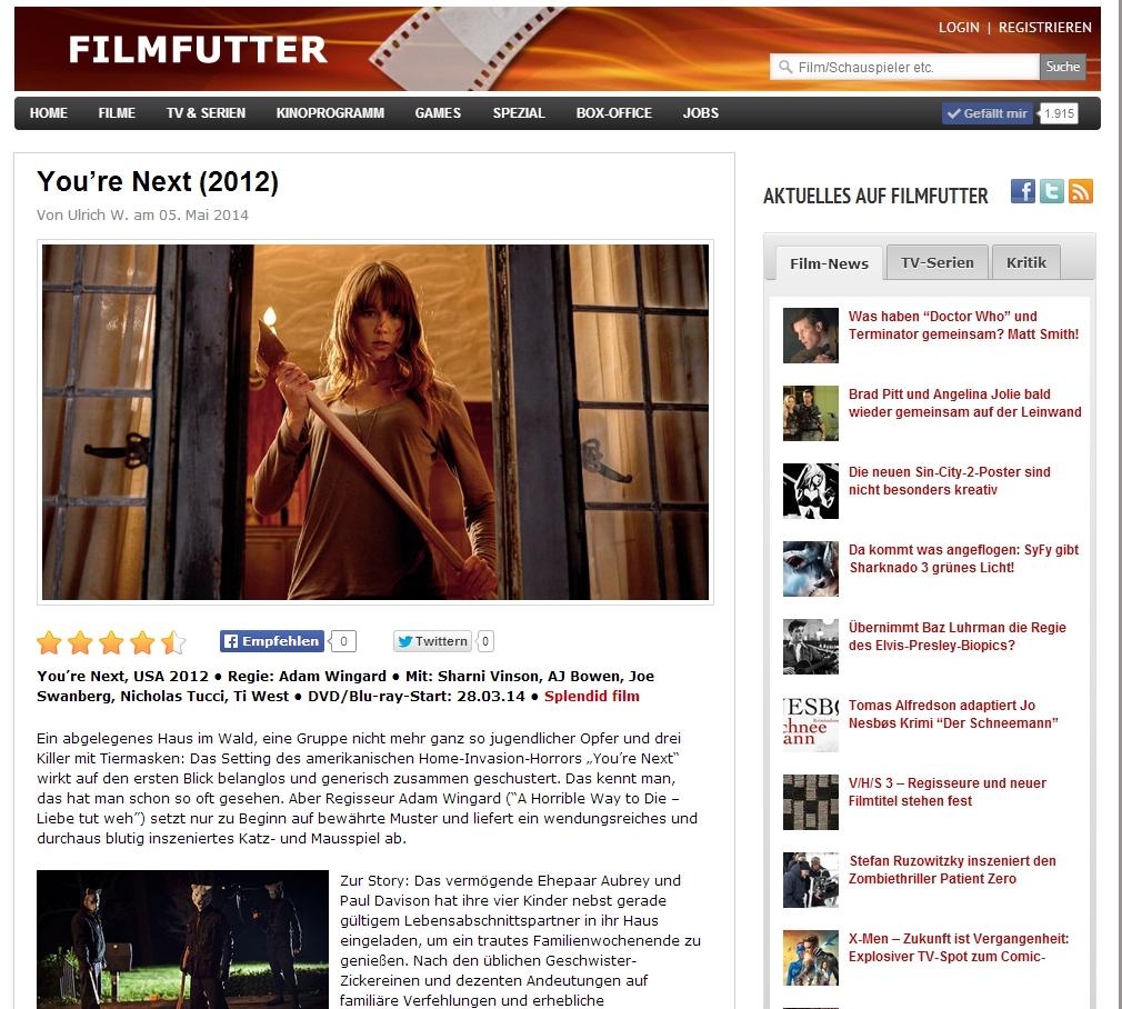 Ulrich Wimmeroth - Youre Next - Filmkritik