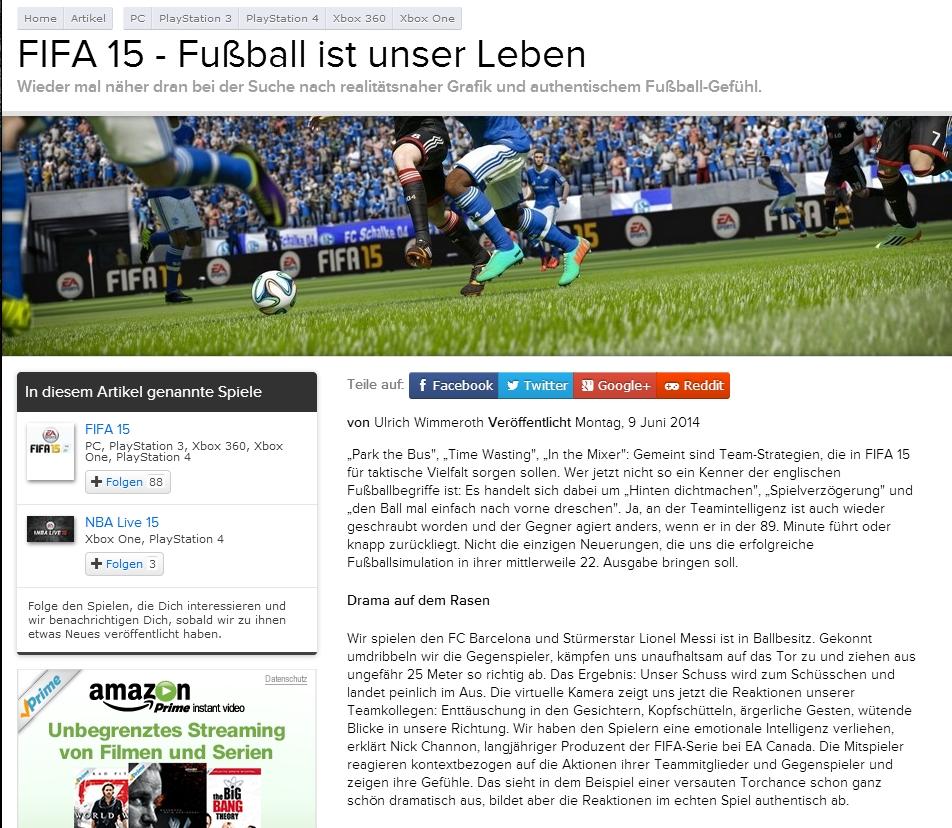 Ulrich Wimmeroth - FIFA 15 Vorschau eurogamer.de