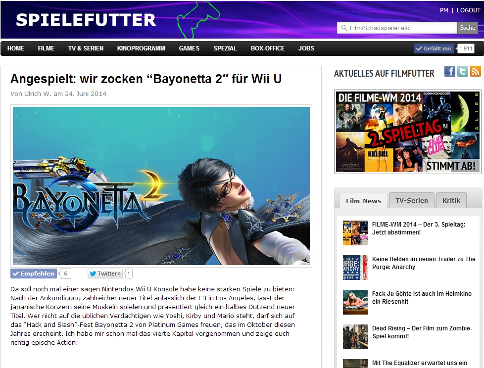 Ulrich Wimmeroth - Lets Play Bayonetta 2 Kapitel 4
