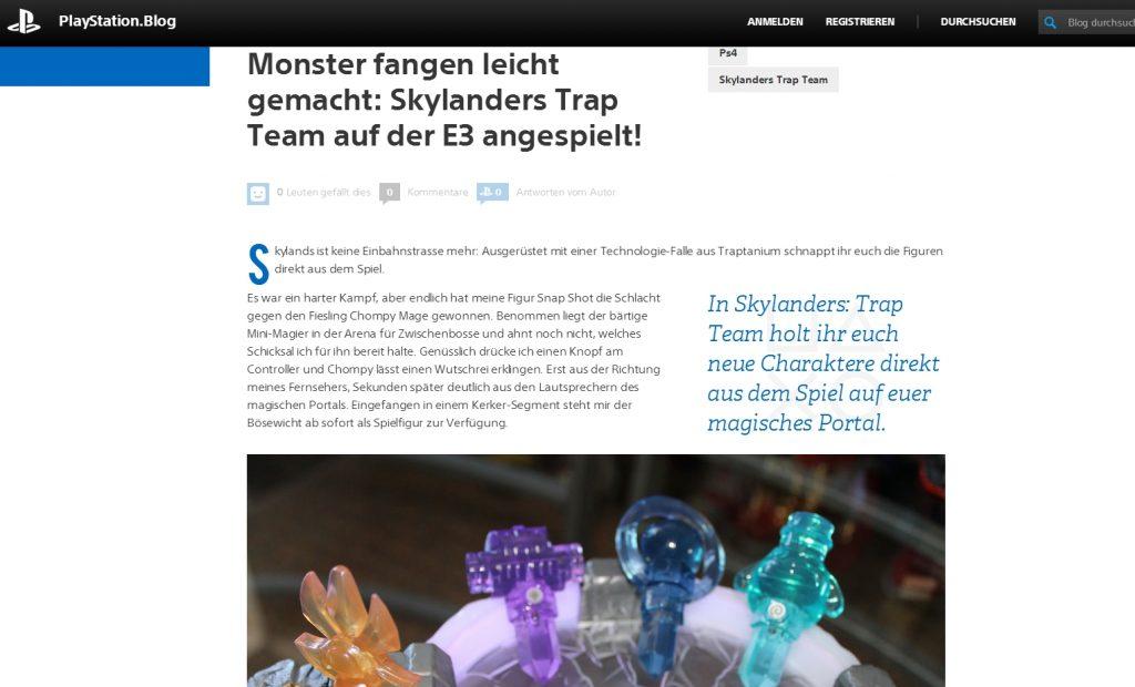 Ulrich Wimmeroth - Skylanders Trap Team - E3 2014