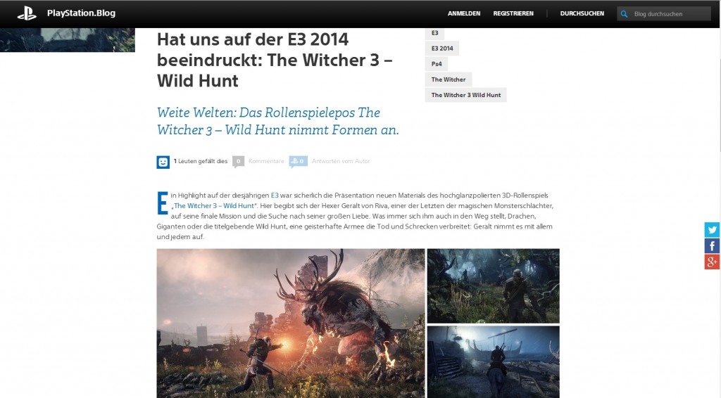 Ulrich Wimmeroth - The Witcher 3 - Wild Hunt - Playstation Blog