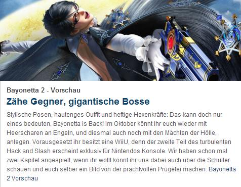 Ulrich Wimmeroth - Bayonetta 2 - Preview