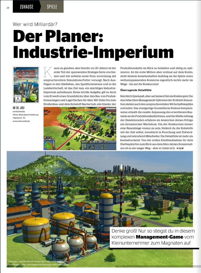 Ulrich Wimmeroth - Der Planer - Industrie Imperium