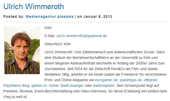 Ulrich Wimmeroth - Medienagentur plassma