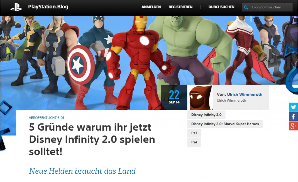 Ulich Wimmeroth - Disney Infinity 2.0