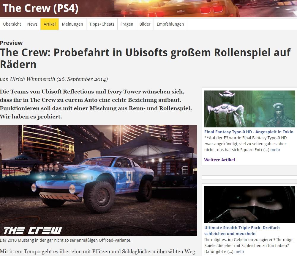 Ulrich Wimmeroth - The Crew - Rollenspiel auf Raedern - spieletipps.de