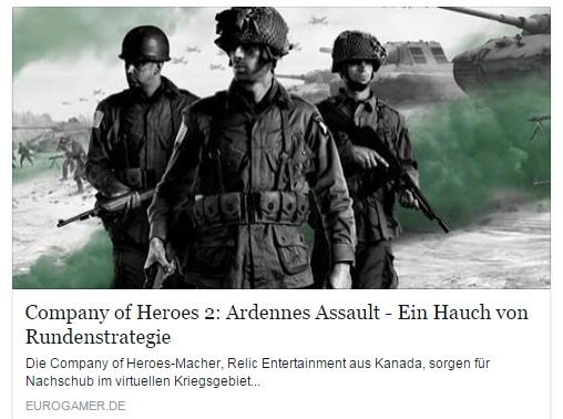 Ulrich Wimmeroth - Company of Heroes 2 - Ardennes Assault - eurogamer