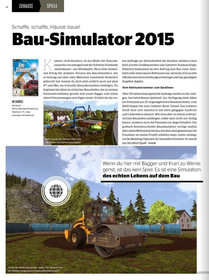Ulrich Wimmeroth - Bau-Simulator 2015