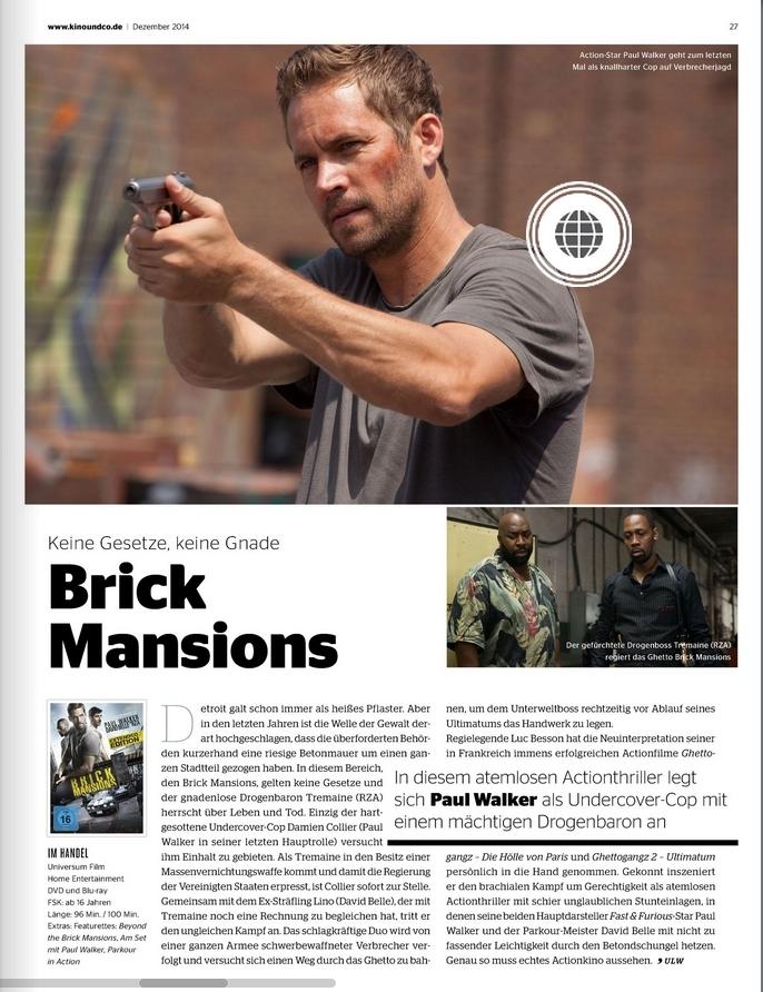 Ulrich Wimmeroth - Brick Mansions - Kino und co
