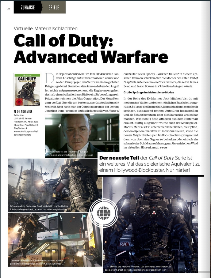 Ulrich Wimmeroth - Call of Duty Advanced Warfare - kinoundco