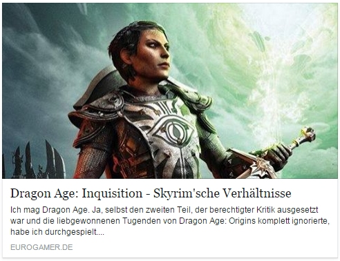 Ulrich Wimmeroth - Dragon Age Inquisition - eurogamer