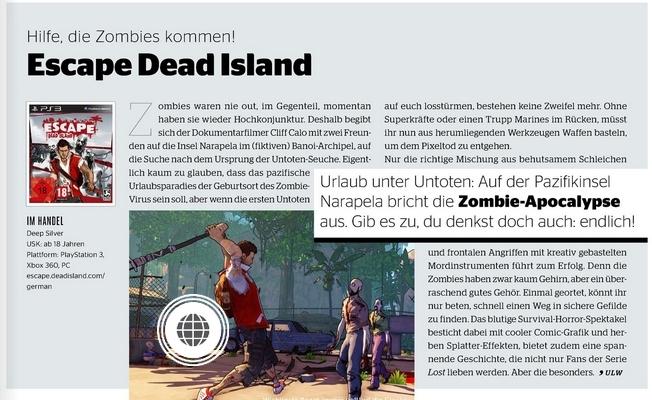 Ulrich Wimmeroth - Escape Dead Island - Kino und co