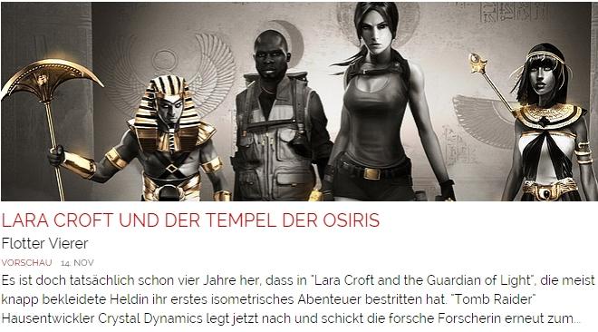 Ulrich Wimmeroth - Lara Croft und der Tempel des Osiris - Flotter Vierer
