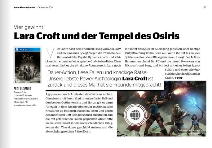 Ulrich Wimmeroth - Lara Croft und der Tempel des Osiris - Kino und co