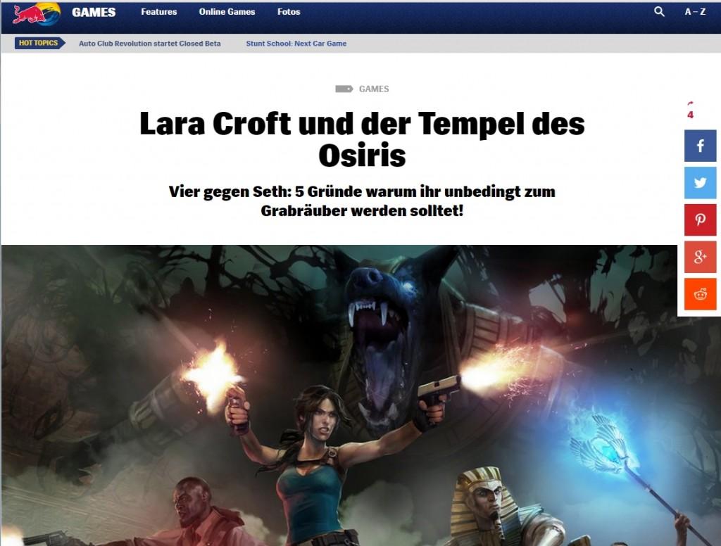 Ulrich Wimmeroth - Lara Croft und der Tempel des Osiris - Red Bull