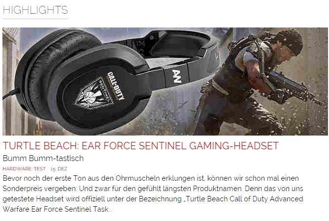 Ulrich Wimmeroth - Turtle Beach Sentinel Headsets - games.ch