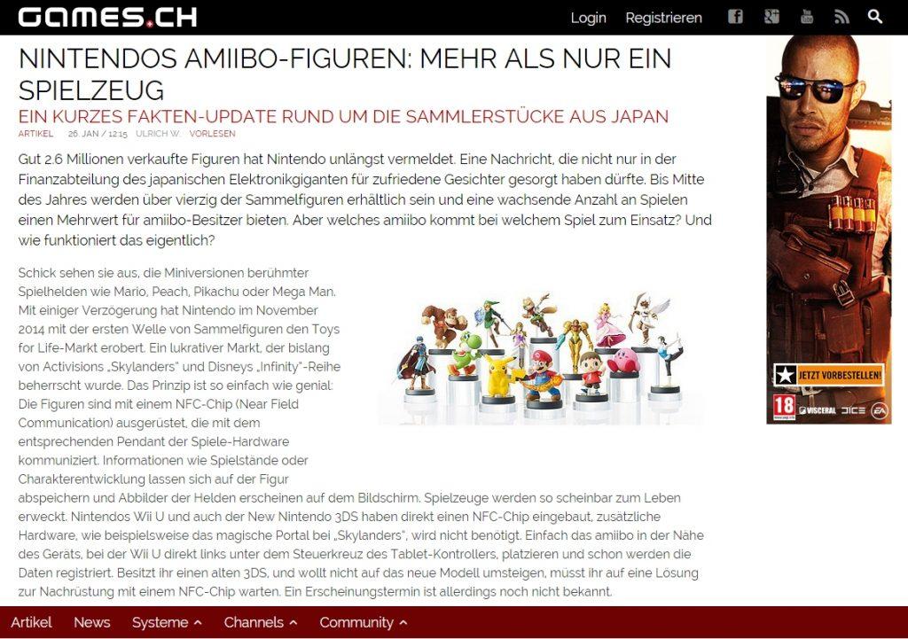Ulrich Wimmeroth - Amiibo - Mehr als nur ein Spielzeug - games.ch