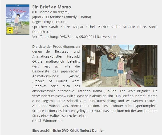 Ulrich Wimmeroth - Ein Brief an Momo