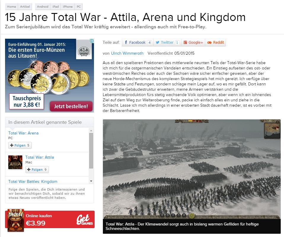 Ulrich Wimmeroth - Total War - Eurogamer