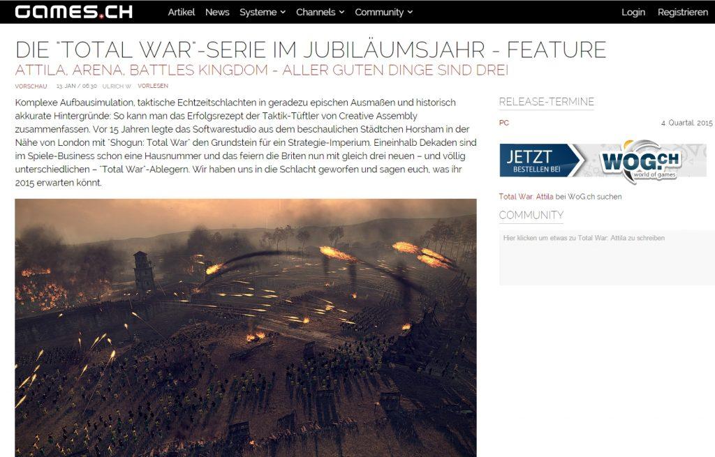 Ulrich Wimmeroth - Total War - games.ch